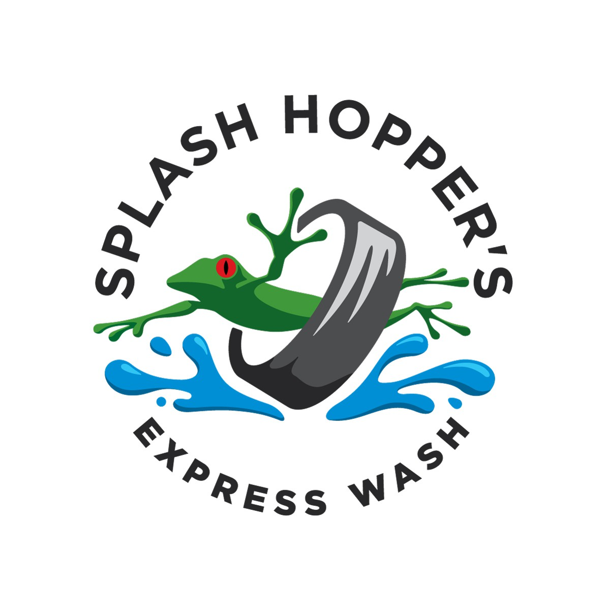 Funky & Groovy Logo for a New Express Tunnel Car Wash
