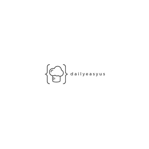 Food blog logo concept
