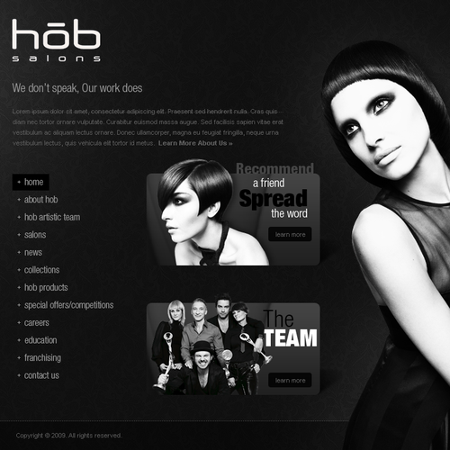 Website for HOB Salons, the UK's leading hair salon group