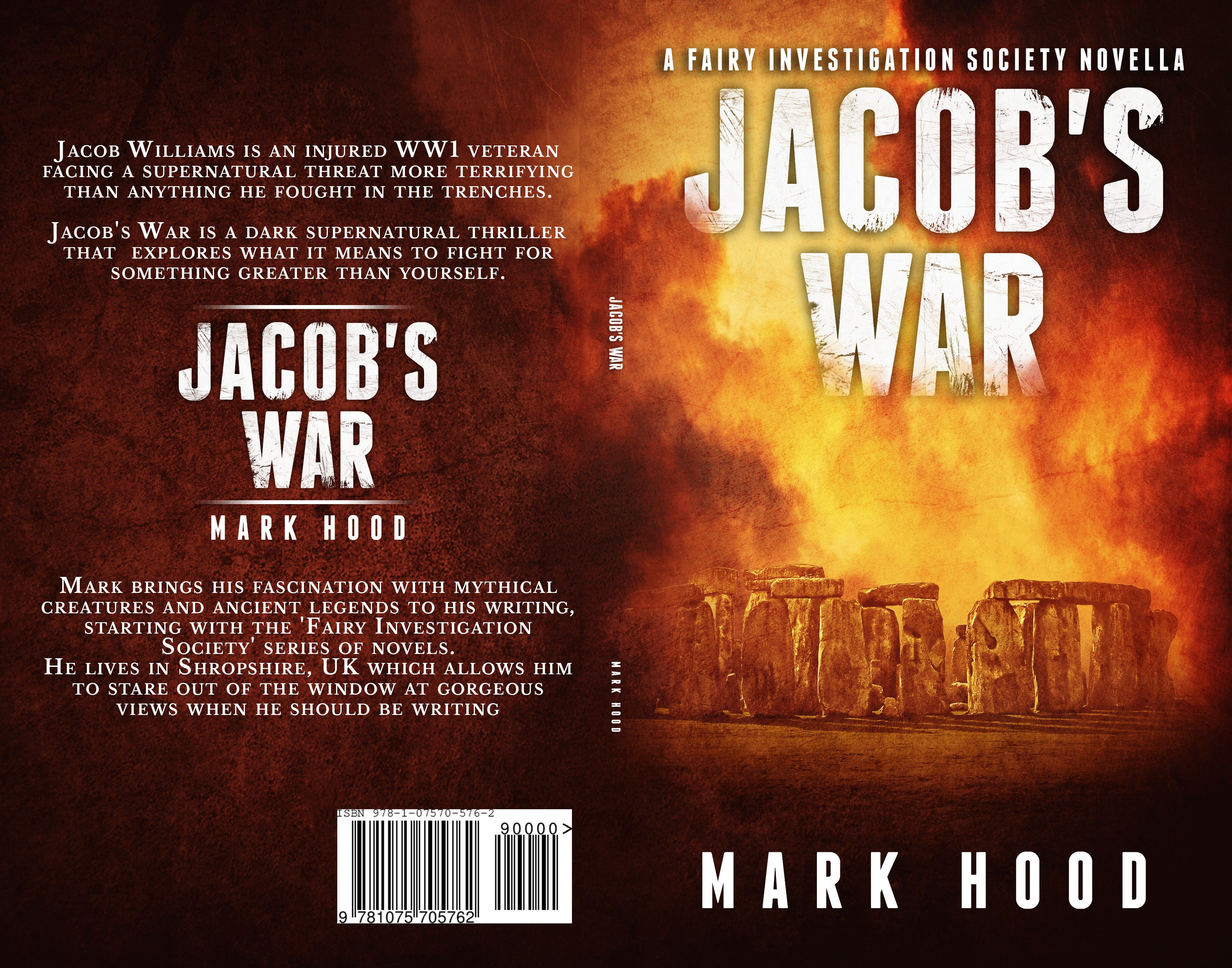 Design eBook and paperback covers for a dark urban fantasy set around World War 1