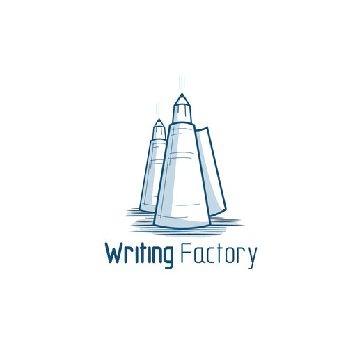 hand-drawn logo for Writing Factory