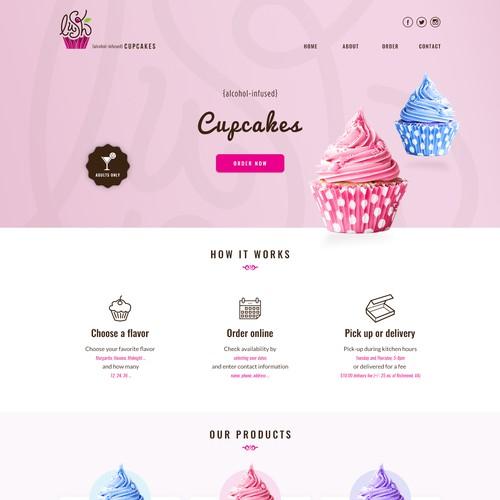 Webdesign for Lush Cupcakes