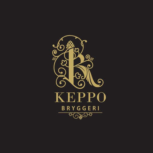 "decorative letter 'K"" - briggery logo"