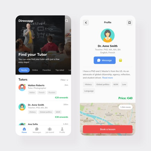 Tutor Finder App