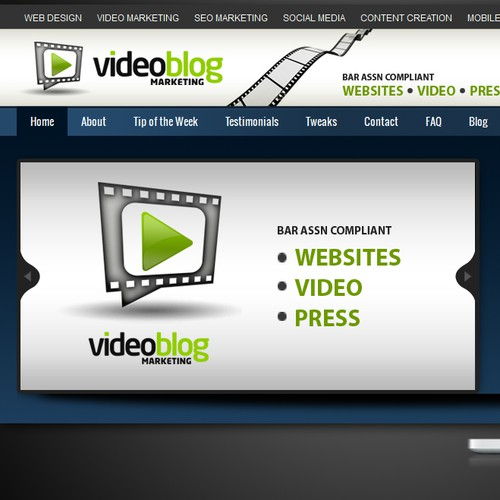 """Video Blog Marketing Changes Name to """"New Media Marketing"""" Header & Banner Ad Help!!! :)"""
