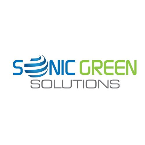 Eye catching logo for Sonic Green Solutions