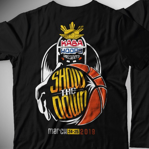 Design T-Shirt for Kaba Hoops The Showdown