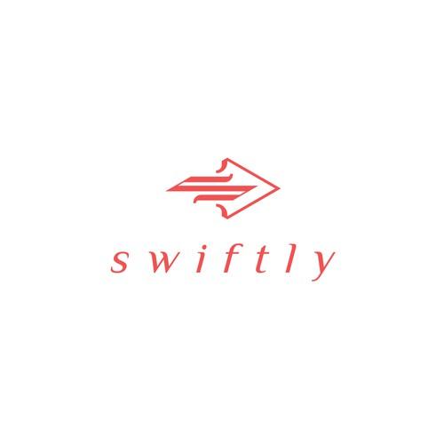 SWIFTLY - Simple minimal logo that is modern
