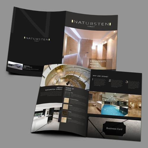 Elegant Brochure about Natural Stones