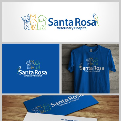 Create a eye catching animal logo for  Veterinary Hospital in Wine country of Calif.