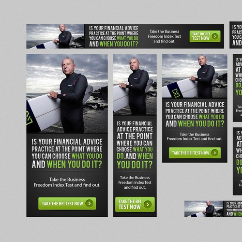Create groovy banner ads to surprise the financial planning industry!