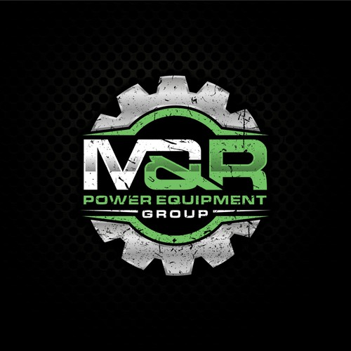 M&R initial with gear logo