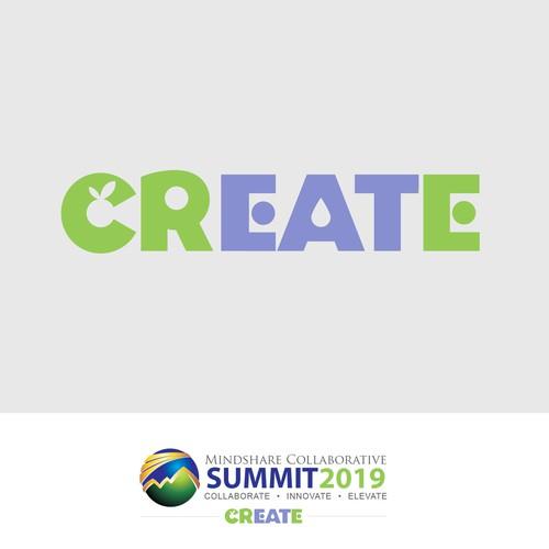 Sub-logo inscription for a summit