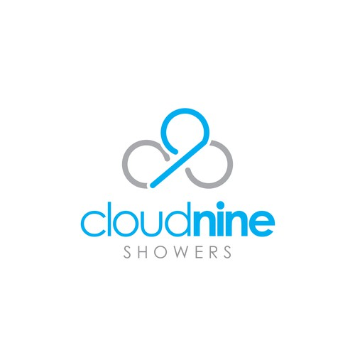 Logo Concept for Cloud 9 Showers