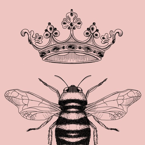 Queen Bee mug design