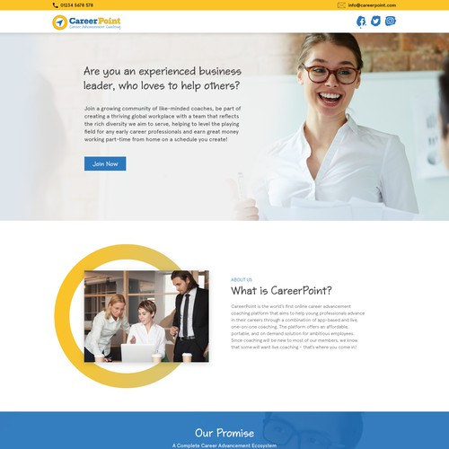 Carrer point website landing page