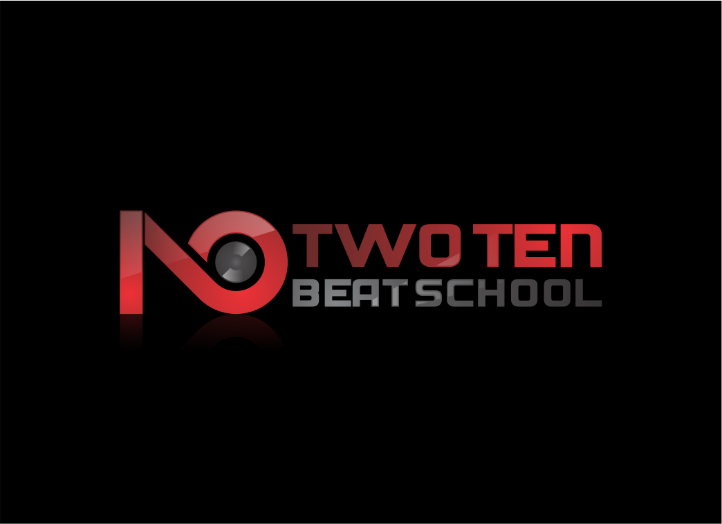 Two Ten Beat School; a dj and music production academy. We need a modern logo.