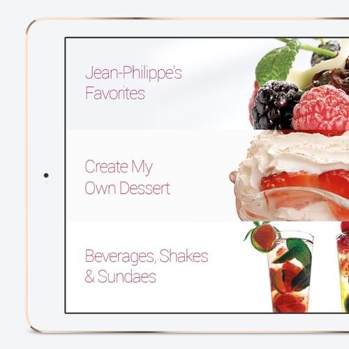Innovative Dessert App Design