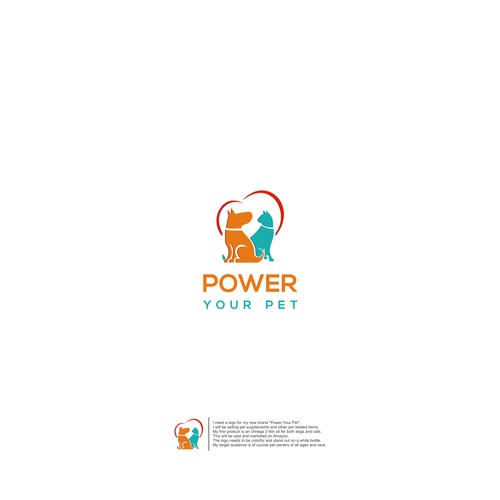 """Design a fun and POWerful logo for new brand """"Power Your Pet"""""""