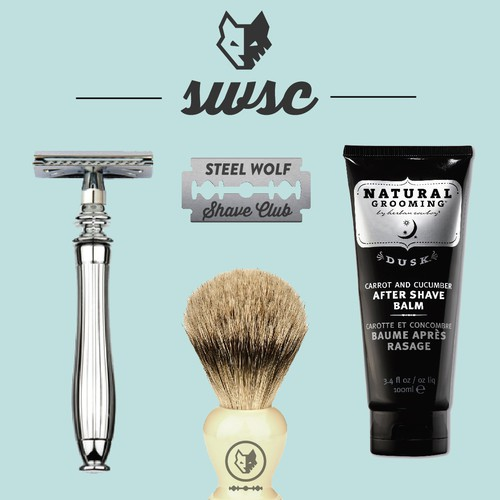 Steel Wolf Shave Club: Branding & Identity