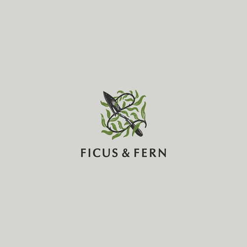 Indoor House Plant Logo Shop Logo