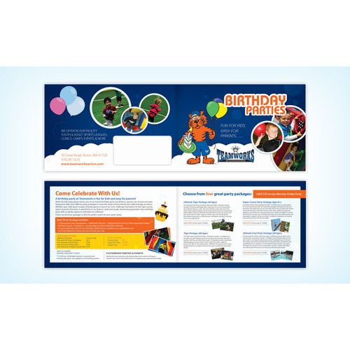 Winning Entry - Birthday Party Brochure for Sport & Recreation Facility