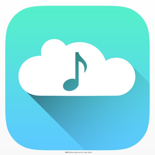 Music Download icon for a mobile app