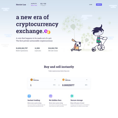 Cryptocurrency website for pets