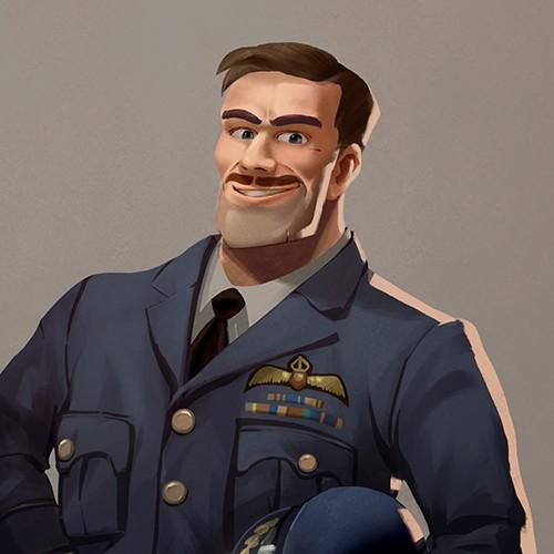 Character design- British Pilot