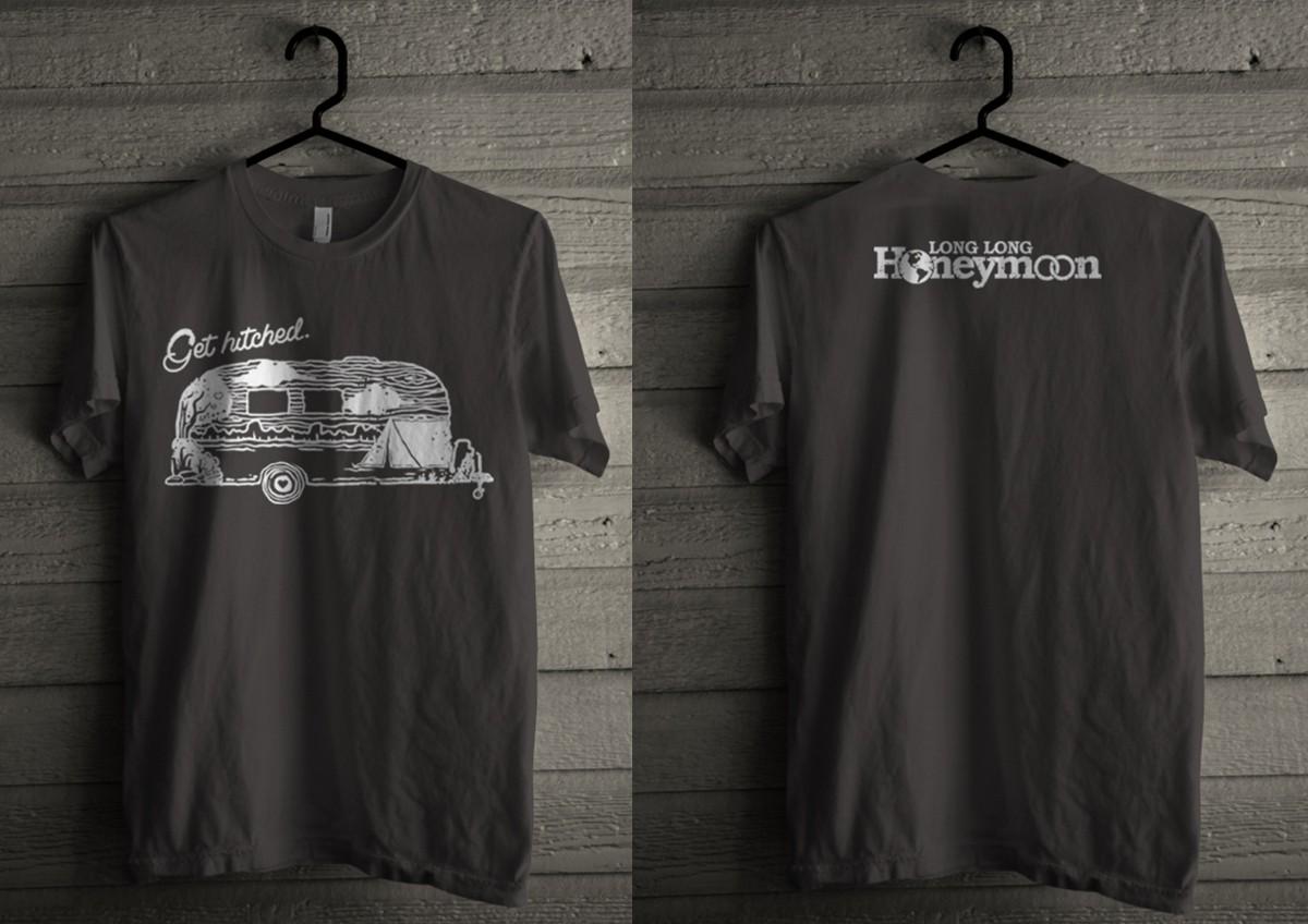 Design a fun t-shirt for LONG LONG HONEYMOON!
