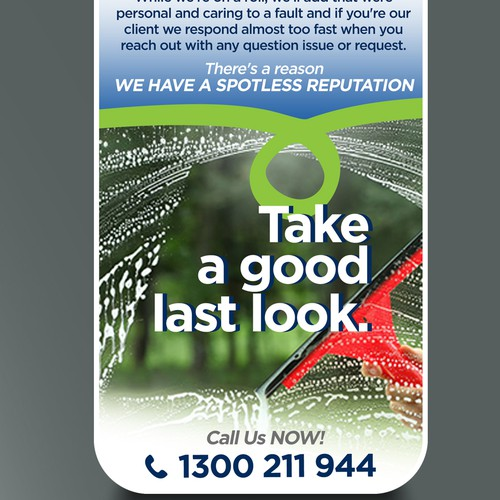 Create an amazing door hanger for Cleancorp that will get our phones ringing!!
