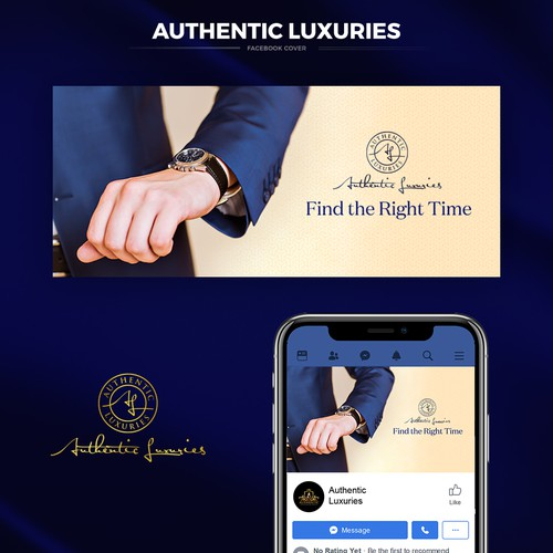 Luxury Facebook cover for Authentic Luxuries