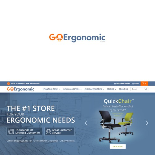 Make an awesome Logo for GoErgonomic.com - An online store selling ergonomic furniture