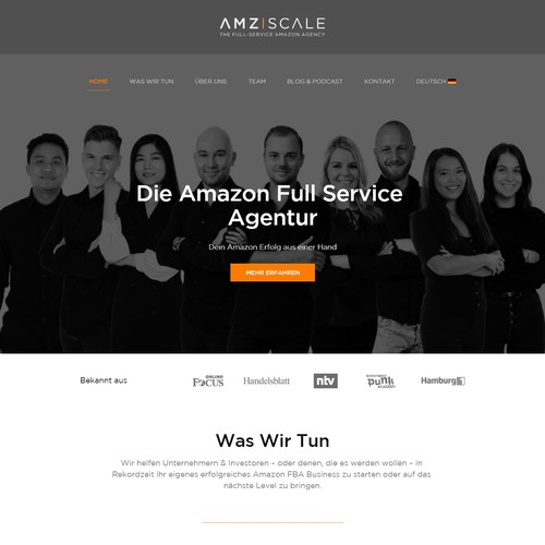 Homepage Redesign for Young Amazon Agency
