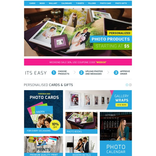 Online Store Landing Page Design
