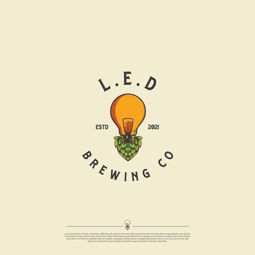 Logo Design LED Brewing Co