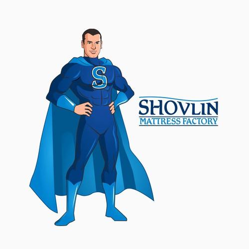 Make a Sleep hero for Shovlin Mattress Factory!