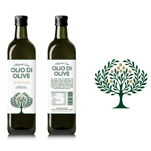 Olive Oil product label for Meneghello Estate