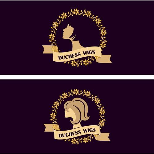 Duchess Wigs Logo Concept