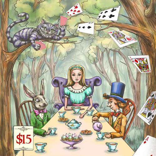 Alice in Wonderland - live children's theatre flyer!!