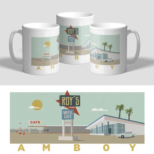 Retro style illustration for coffee mug