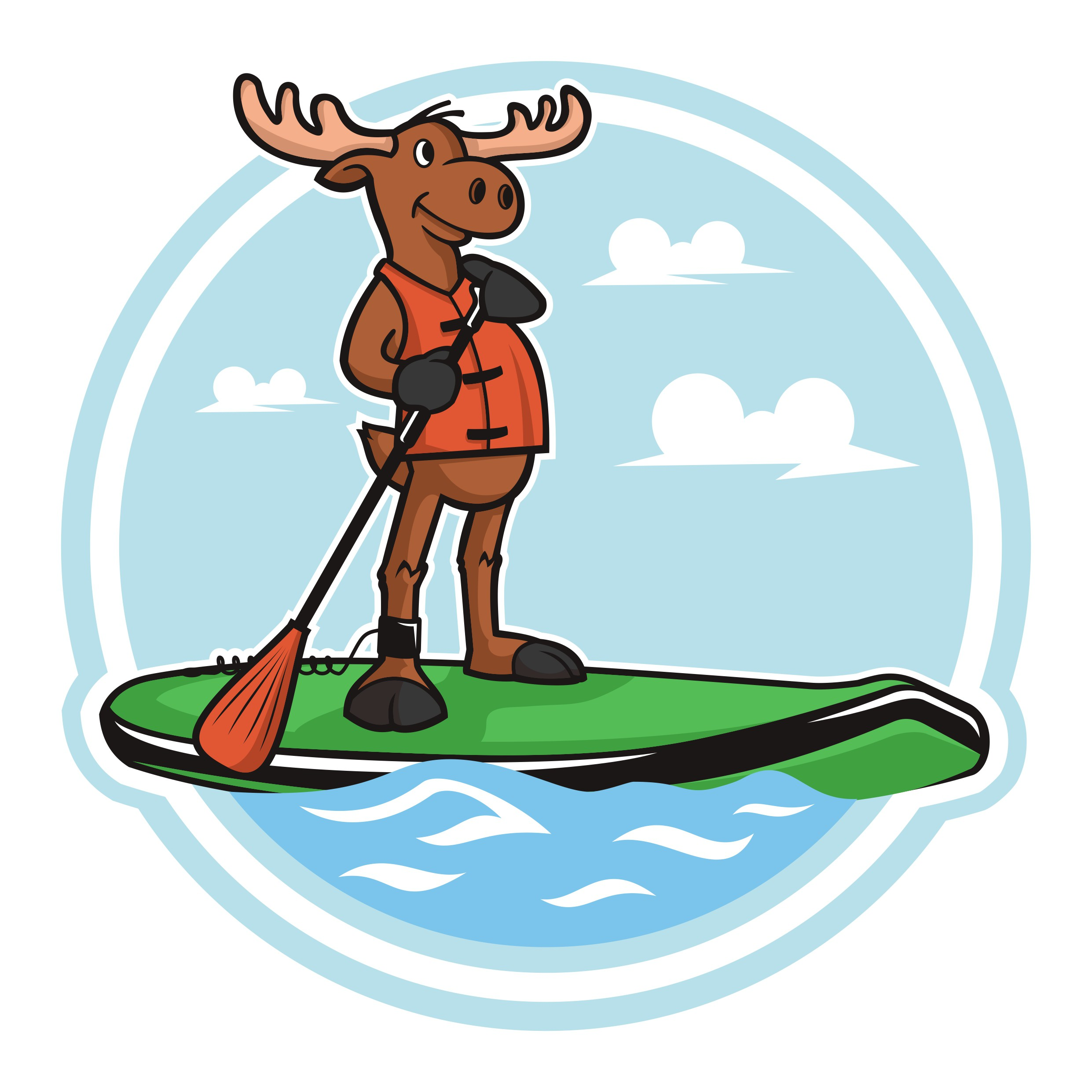 Further development of Moose Canoe Hire Logo