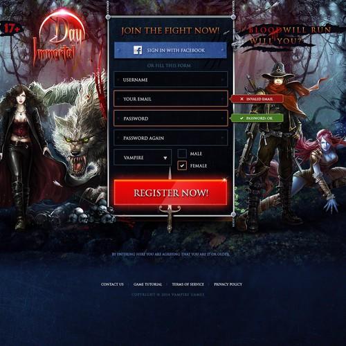 Gaming Landing Page Design