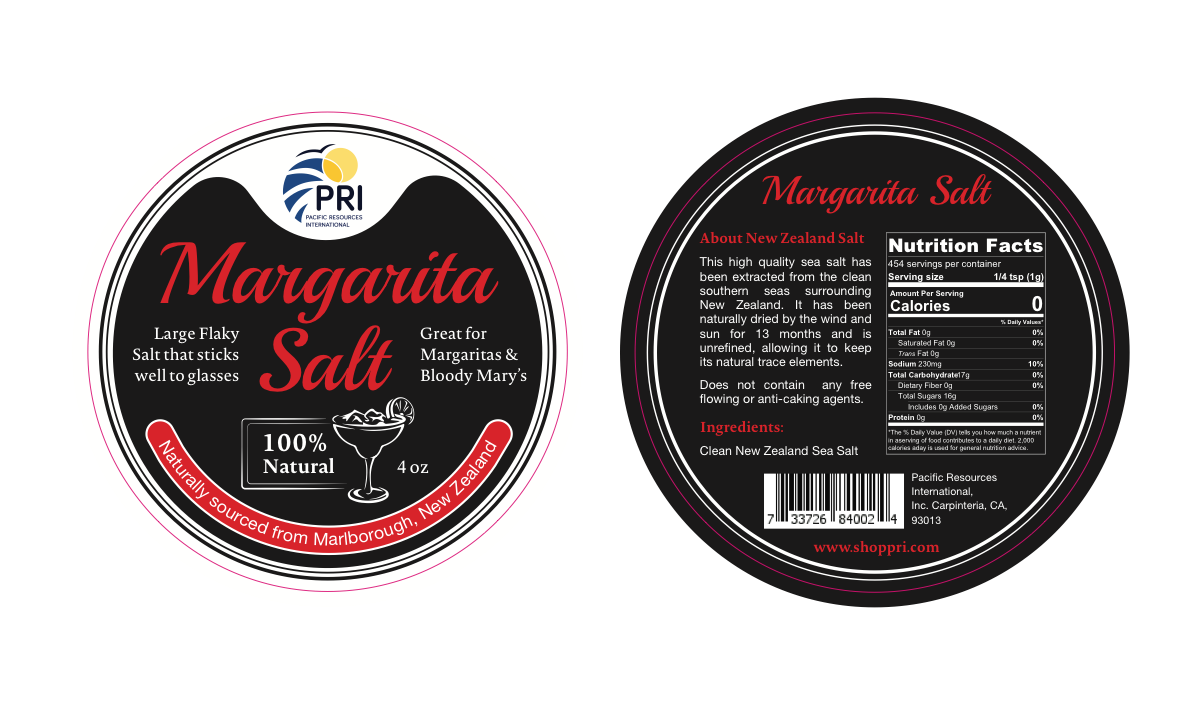 Margarita Salt Tin Label