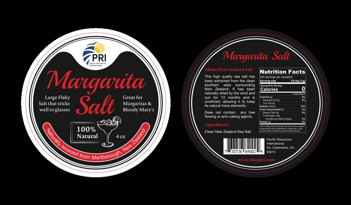 Margarita Salt Tin Label