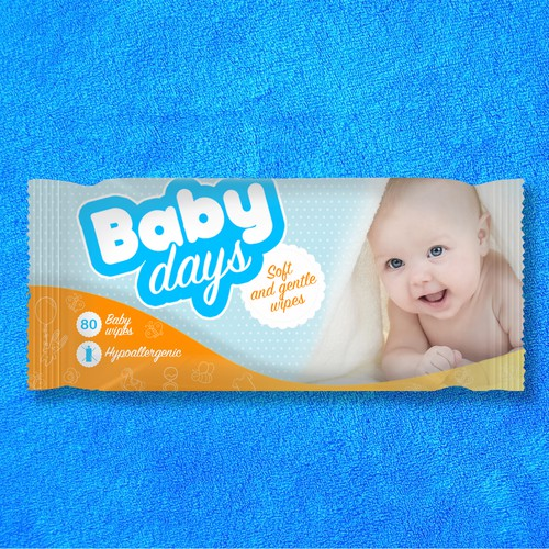 Package design for baby wipes product