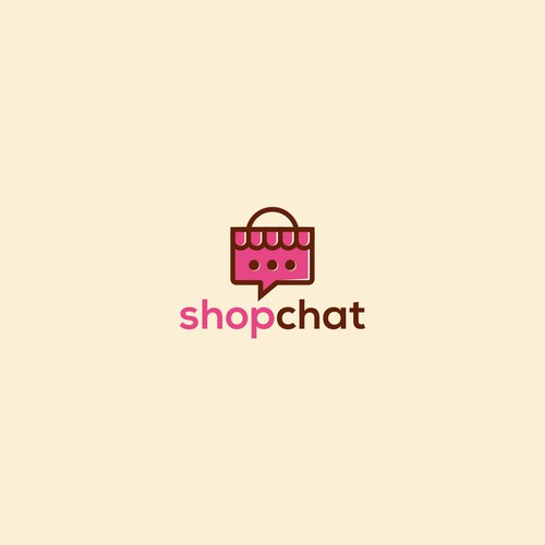 Design a clean app logo & lettering for ShopChat