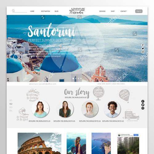 Design for travel agency website.