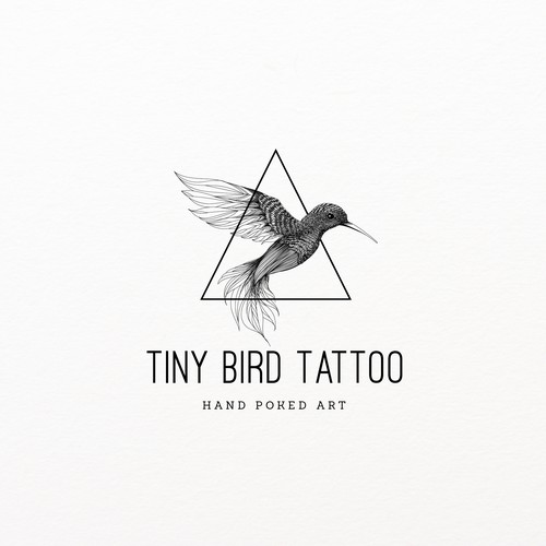 Humming bird illustration for Tiny Bird Tattoo