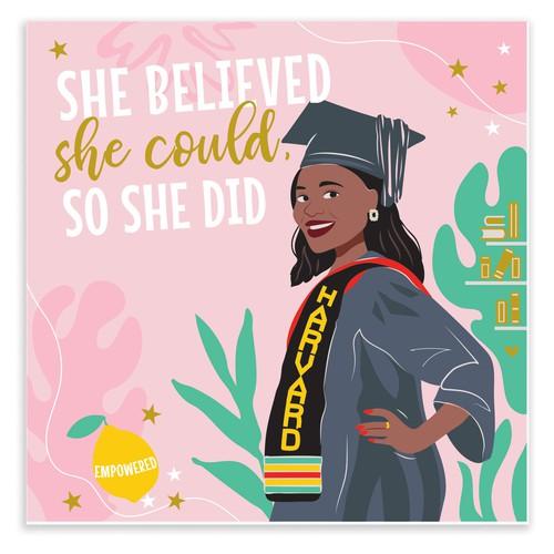 Illustration For Harvard Graduate Office Print